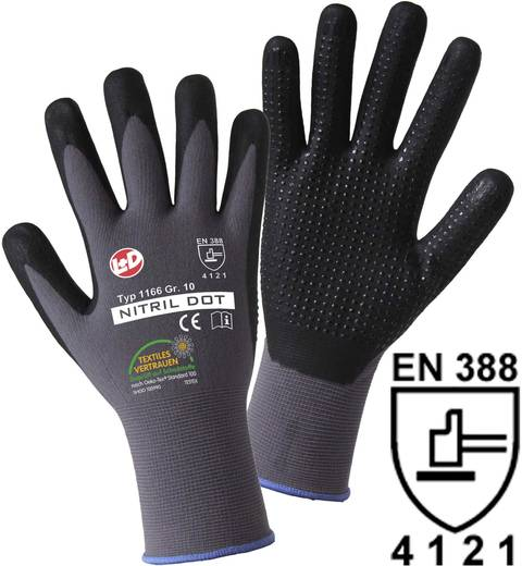 Leipold + Döhle 1166 NITRILE DOT fijn gebreide handschoen Maat 9