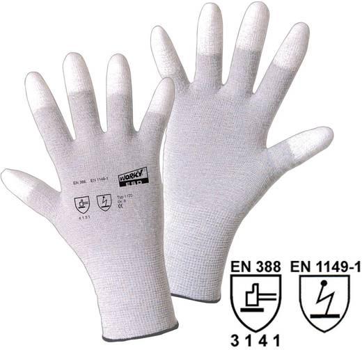 worky 1170 ESD nylon / PU Carbon (vingertoppen) fijn gebreide handschoen maat 8 Nylon / koolstofvezel met PU-coating Maa