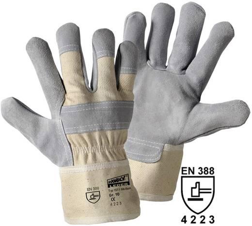 worky 1511 Medium rundsplitlederen handschoen Bovenmateriaal: rundsplitleder en katoen Maat (handschoen): 10, XL