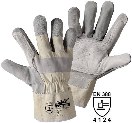 worky 1517 Stabil handschoen Rundsplitleder Maat (handschoen): 10, XL