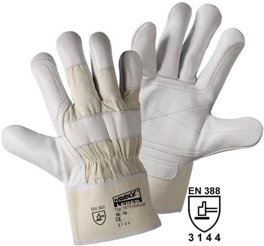 worky 1576 Robuuste rundleren handschoen Bovenmateriaal: rundleer en katoen Maat 10