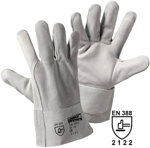 worky 1812 Kombi-Kurz veiligheidshandschoen Handpalm: rundleer, handrug: splitleder Maat (handschoen): Universeel