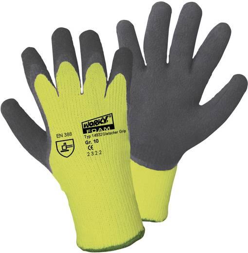 Griffy 14932 Gletscher-Grip gebreide winterhandschoen neon-geel Gr.10 100% Acryl met coating van natuurlijk latex Maat (