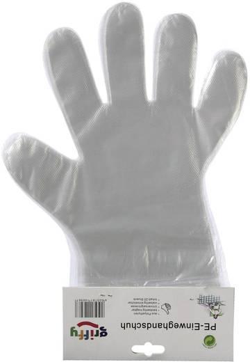 Griffy 14691SB PE-wegwerphandschoen herenmaat Polyethyleen 20 stuks