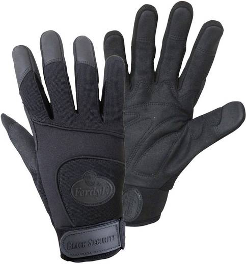 FerdyF. 1911 BLACK SECURITY Mechanics-handschoen Synthetisch leder en Spandex Maat (handschoen): 8, M