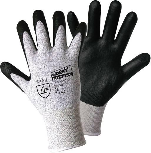 worky 1141 CUTEXX / Carbon nitrilschuim fijn gebreide handschoen Maat (handschoen): 8, M