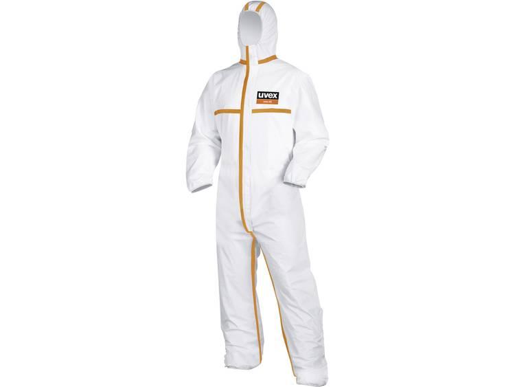 Uvex 9873911 Overal voor eenmalig gebruik type 4 Maat=L Wit, Oranje