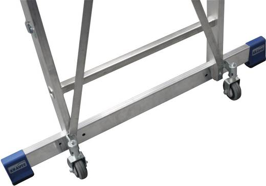 Aluminium Werkhoogte (max.): 3.90 m Krause 127785 Zilver 21 kg