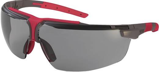 Uvex 9190286 Veiligheidsbril I-3 Grafiet, Rood
