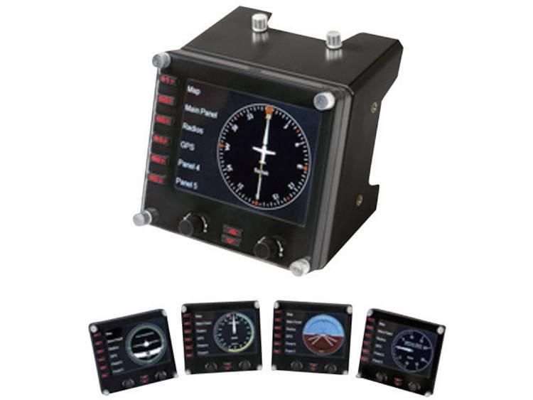 Logitech Gaming Saitek Pro Flight Instrument Panel PZ46 Vliegsimulator-controller USB PC Zwart