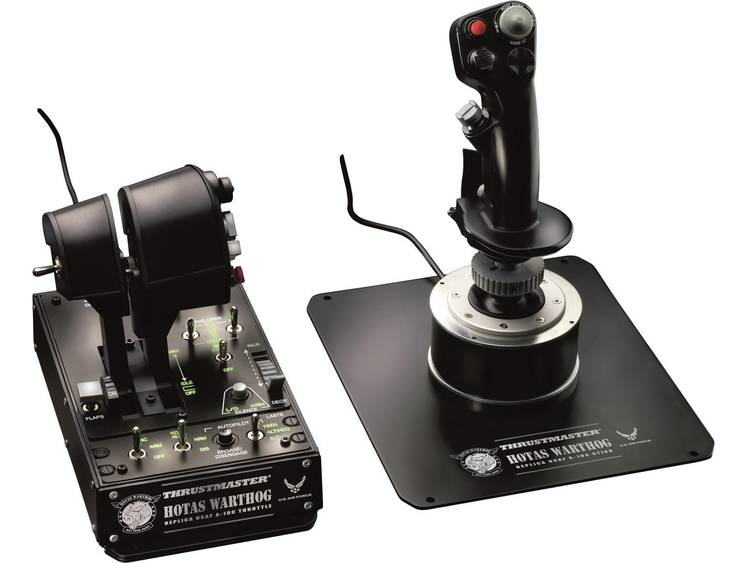 Thrustmaster Hotas Warthog Vliegsimulator joystick USB PC Zwart