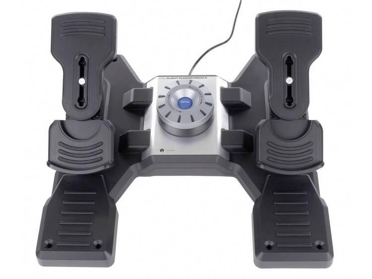 Logitech Gaming Saitek Pro Flight Rudder Pedals PZ35 Vliegsimulator pedalen USB PC Zwart