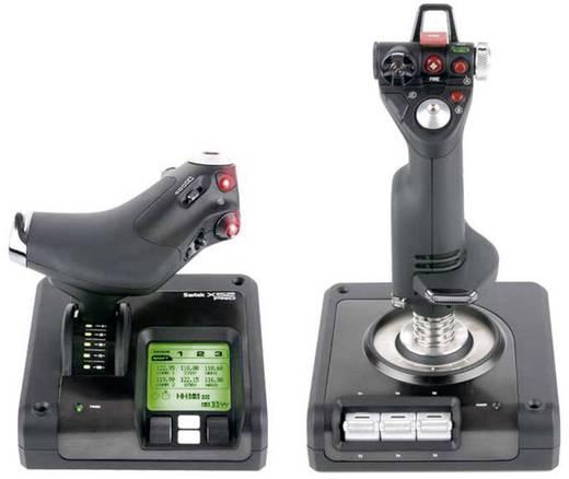 Saitek X52 Pro Flight Control System Vliegsimulator-joystick USB Zwart