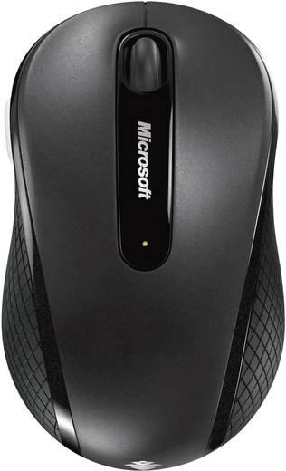 Microsoft Wireless Mobile Mouse 4000 in schwarz Draadloze muis Optisch Zwart