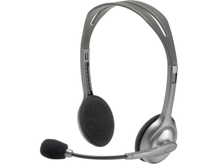 Logitech H110 PC-headset 3.5 mm jackplug Kabelgebonden, Stereo On Ear Grijs