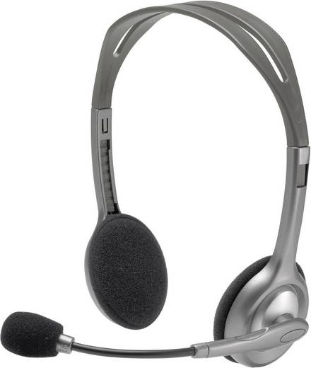 Logitech H110 PC-headset 3.5 mm jackplug Kabelgebonden, Stereo On Ear Grijs