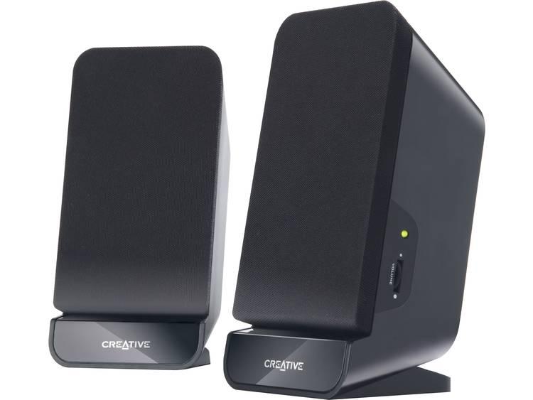 Creative Inspire A60 2.0 PC-luidsprekers Kabelgebonden 2 W Zwart