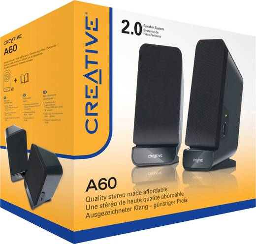 2.0 PC-luidsprekers Kabelgebonden Creative Labs