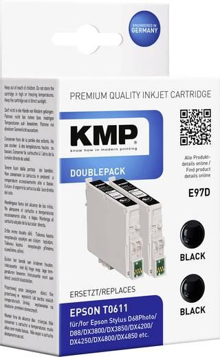 KMP Inkt vervangt Epson T0611 Compatibel 2-pack Zwart E97D 1603,0021