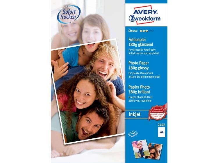 Avery Zweckform Classic Photo Paper Inkjet 2496 Fotopapier DIN A4 180 g m² 100