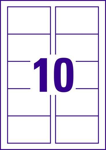 Bedrukbare visitekaarten, gladde kant Avery-Zweckform C32011-10 85 x 54 mm 200 g/m² Wit 100 stuks