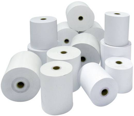 Bonrol thermopapier 50 rollen Wit