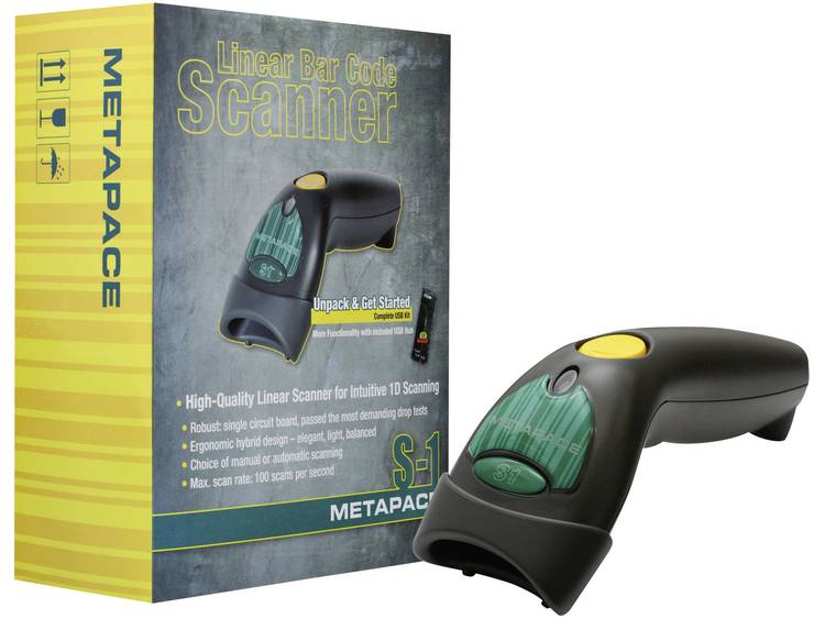 Metapace S-1 USB-Kit Barcodescanner Imager Antraciet Handmatig USB