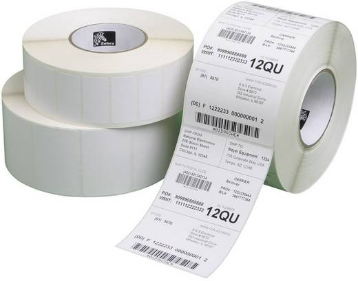 Zebra Etiketten (rol) 51 x 25 mm Papier Wit 20640 stuks Permanent 3007201-T Universele etiketten