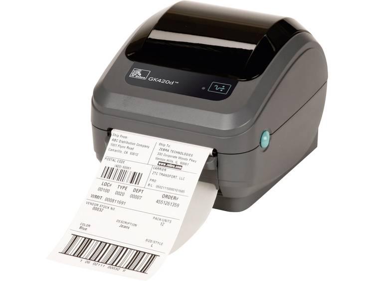 Zebra GK420D Labelprinter Thermisch 203 x 203 dpi Etikettenbreedte (max.): 110 mm USB, RS-232, Parallel