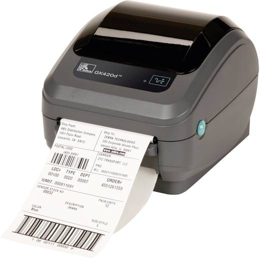 Zebra GK420D Labelprinter Thermisch 203 x 203 dpi Etikettenbreedte (max.): 110 mm USB, RS-232