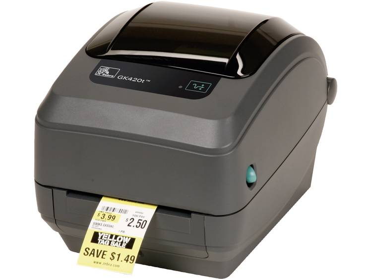 Zebra GK420T Labelprinter Warmtetransmissie 203 x 203 dpi Etikettenbreedte (max.): 110 mm USB, RS-232