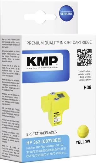 KMP Inkt vervangt HP 363 Compatibel Geel H38 1700,0009