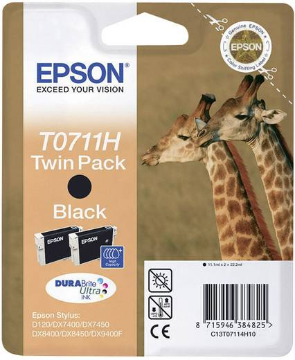Epson Inkt T0711H Origineel 2-pack Zwart C13T07114H10