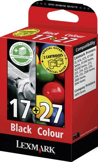 Cartridge multipack Origineel Lexmark 17, 27 vervangt Lexmark 17 Zwart, Cyaan, Magenta, Geel