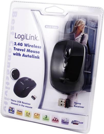 LogiLink Draadloze muis optisch 2,4 GHz mini zwart Draadloze muis Optisch Zwart