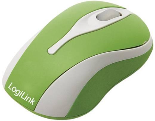 LogiLink Mini Maus USB muis Optisch Verlicht Groen