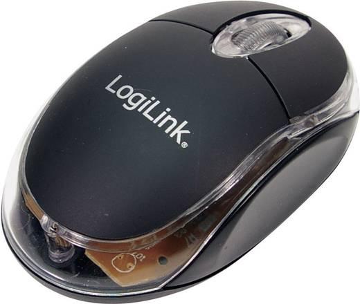 LogiLink Mini Maus USB muis Optisch Verlicht Zwart
