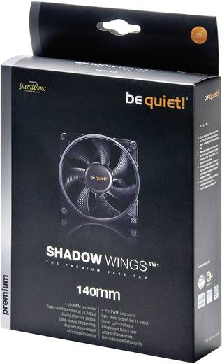 Be Quiet Shadow Wings 140 mm PC-ventilator - PWM