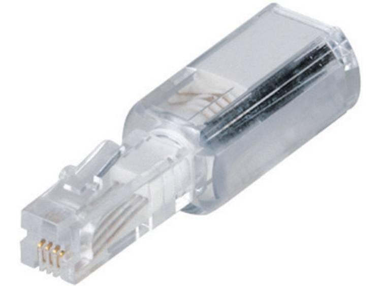 Hama Snoerontwarder [1x RJ10-stekker 4p4c 1x RJ10-bus 4p4c] Wit (transparant) 0 m