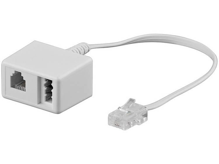 ISDN, Western, Telefoon Adapter [1x RJ45-stekker 8p8c - 1x Telefoonkoppeling Duitsland (TAE-N), RJ11-bus 6p4c] 0.20 m Wit Basetech