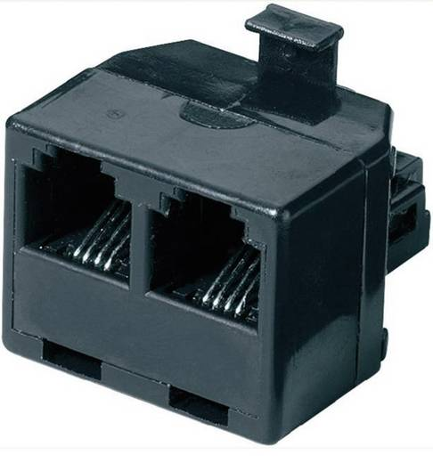 ISDN Y-adapter [1x RJ-stekker 6p4c - 2x RJ11-bus 6p4c] 0 m<
