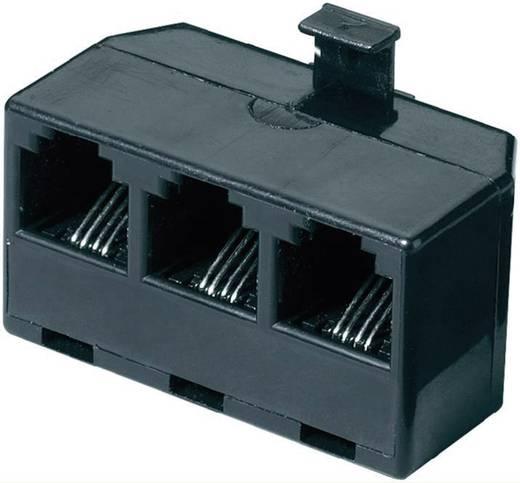ISDN Y-adapter [1x RJ-stekker 6p4c - 3x RJ11-bus 6p4c] 0 m Zwart