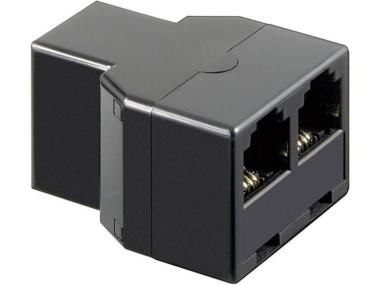 Western Adapter [1x RJ11-bus 6p4c 2x RJ11-bus 6p4c] 0 m Zwart Basetech
