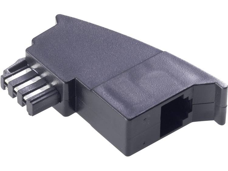 Basetech Telefoon Adapter [1x Telefoonstekker Duitsland (TAE-F) - 1x RJ11-bus 6p4c] 0 m Zwart