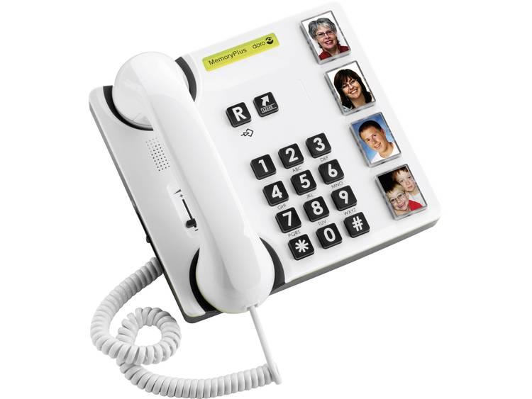 doro MemoryPlus 319iph Bedrade seniorentelefoon Wit, Zwart