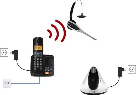 doro HS1910 DECT Telefoonheadset Zilver, Zwart