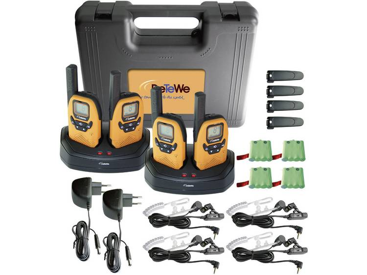 DeTeWe DeTeWe PMR portofoon Outdoor 8000 Quad Case koffer 208048 PMR 8000 Quad Case
