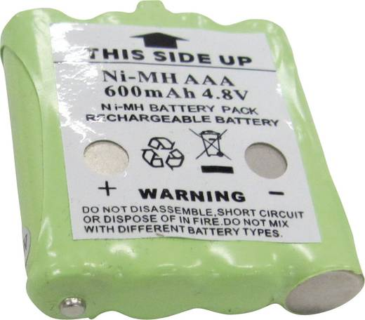 Draadloze apparaataccu Topcom Vervangt originele accu TT9100 4.8 V 600 mAh