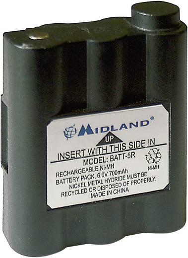 Draadloze apparaataccu Midland Vervangt originele accu PB-ATL/G7 6 V 700 mAh