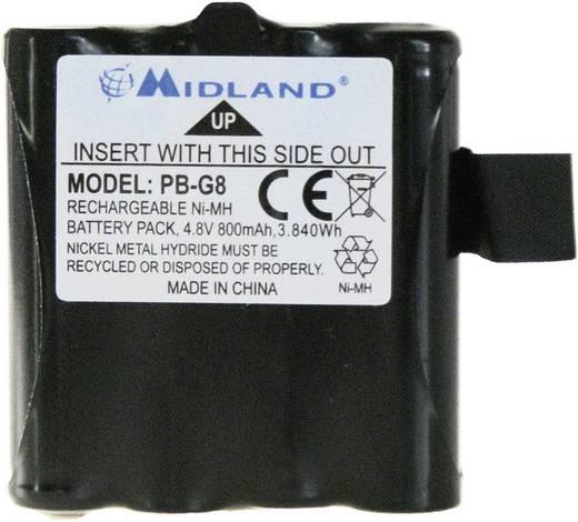 Draadloze apparaataccu Midland Vervangt originele accu PB G6/G8 4.8 V 800 mAh